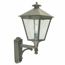 Elstead Turin Outdoor Wall Uplight Lantern Black/Gold