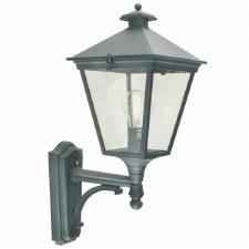 Elstead Turin Outdoor Wall Uplight Lantern Black