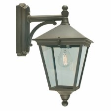 Elstead Turin Outdoor Wall Light Lantern Black/Gold