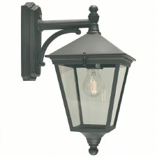 Elstead Turin Outdoor Wall Light Lantern Black