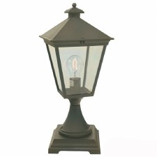 Elstead Turin Pedestal Lantern Light Black/Gold