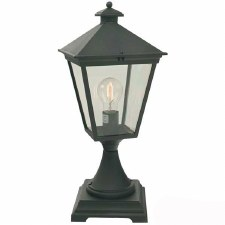 Elstead Turin Pedestal Lantern Light Black
