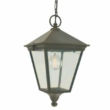 Elstead Turin Chain Lantern Light Black/Gold