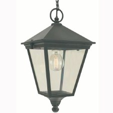 Elstead Turin Chain Lantern Light Black