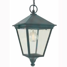 Elstead Turin Chain Lantern Light Verdigris