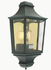 Elstead Turin Flush Outdoor Wall Light Lantern Verdigris
