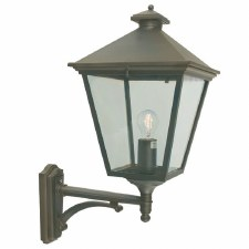 Elstead Turin Grande Large Outdoor Wall Uplight Lantern Black/Gold
