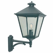 Elstead Turin Grande Large Outdoor Wall Uplight Lantern Black