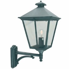 Elstead Turin Grande Large Outdoor Wall Uplight Lantern Verdigris