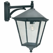 Elstead Turin Grande Large Outdoor Wall Light Lantern Black