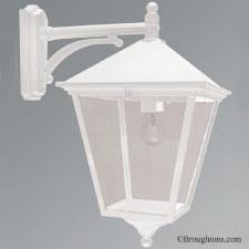Elstead Turin Grande Large Outdoor Wall Light Lantern White