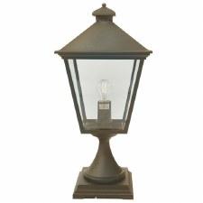 Elstead Turin Grande Large Pedestal Lantern Light Black/Gold