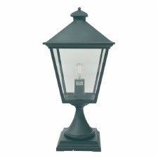 Elstead Turin Grande Large Pedestal Lantern Light Black