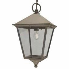 Elstead Turin Grande Chain Lantern Light Black/Gold
