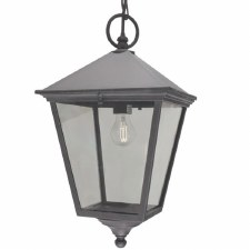 Elstead Turin Grande Chain Lantern Light Black