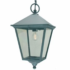 Elstead Turin Grande Chain Lantern Light Verdigris