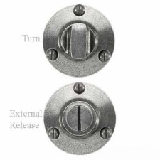 Solid Pewter Thumb Turn & Release