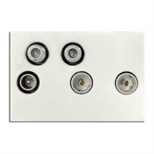 Quadplex & Return Module White 50x75mm
