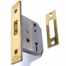 """Union Bathroom Door Lock 2126 2.5"""" Brass"""
