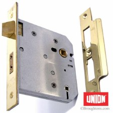 "Union Bathroom Door Lock 4"" Brass"