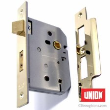"Union Bathroom Door Lock 2226 3"" Brass"