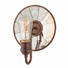Feiss Urban Renewal Wall Light with Antique Mirrored Glass