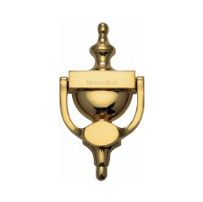 Heritage V910 Urn Door Knocker Polished Brass Lacquered Large