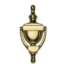 Heritage V910 Urn Door Knocker Polished Brass Lacquered Small