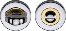 Heritage V0678 Bathroom Thumb Turn & Release Pol Chrome & Pol Brass