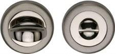 Heritage V0678 Bathroom Thumb Turn & Release Satin & Polished Nickel