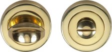 Heritage V0678 Bathroom Thumb Turn & Release Polished Brass Lacquered