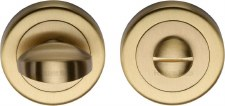 Heritage V0678 Bathroom Thumb Turn & Release Satin Brass Lacquered