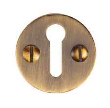Heritage V1010 Plain Escutcheon Antique Brass Lacquered