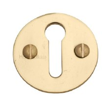 Heritage V1010 Plain Escutcheon Polished Brass