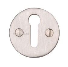 Heritage V1010 Plain Escutcheon Satin Nickel