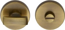 Heritage V1018 Bathroom Thumb Turn & Release Antique Brass Lacquered