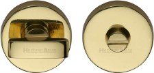 Heritage V1018 Bathroom Thumb Turn & Release Polished Brass Lacquered