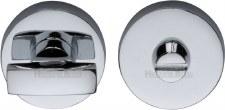 Heritage V1018 Bathroom Thumb Turn & Release Polished Chrome