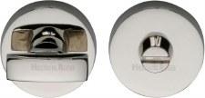 Heritage V1018 Bathroom Thumb Turn & Release Polished Nickel