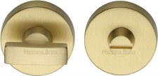 Heritage V1018 Bathroom Thumb Turn & Release Satin Brass Lacquered