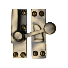 Heritage Sash Fastener V1100 Antique Brass