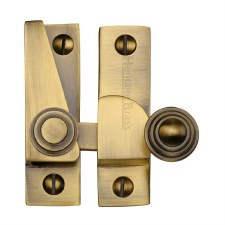 Heritage Hook Plate Sash Fastener V1104 Antique Brass