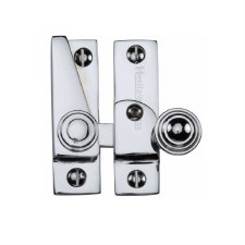 Heritage Hook Plate Sash Fastener Lockable V1104 Polished Chrome