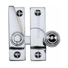 Heritage Hook Plate Sash Fastener V1104 Polished Chrome