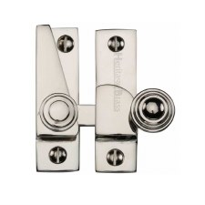 Heritage Hook Plate Sash Fastener V1104 Polished Nickel