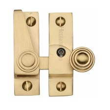 Heritage Hook Plate Sash Fastener Lockable V1104 Satin Brass