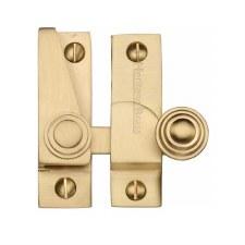 Heritage Hook Plate Sash Fastener V1104 Satin Brass