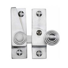 Heritage Hook Plate Sash Fastener Lockable V1104 Satin Chrome