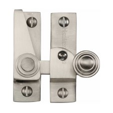 Heritage Hook Plate Sash Fastener Lockable V1104 Satin Nickel