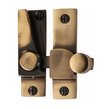 Heritage Hook Plate Sash Fastener V1105 Antique Brass